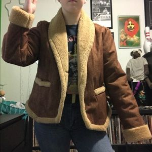 Jackets & Blazers - Vintage 80s faux fur jacket